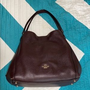 Genuine leather Coach Purse